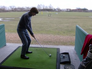 This is me at the Cambridge Driving Range
